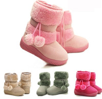 Toddler Infant Flat PomPoms Kids children Girls Shoes Winter...
