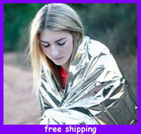 Wholesale Emergency Blankets Lightweight Survival Camping Hiking Mountaineering FirstAid cm