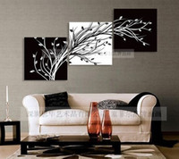 Wholesale quot black white quot modern abstract handicraft oil paintings on canvas art decor wall