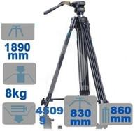 Wholesale NEW Professional WF Video Tripod Fluid Pan Head kit cm kg for DV DSLR Cam PK056