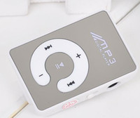 Card No Card Reader YJ 100PCS LOT Clip MP3 Player Mirror Design Card Reader Support MAX 8GB TF Card with earphone +USB