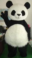 Wholesale New Wedding Panda Bear Outfit Mascot Costume Fancy Dress Adult Size Suit