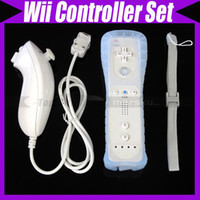 Wholesale Remote and Nunchuck Controller Set Combo For Nintendo Wii Game Wiimote by AA battery