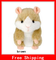 Wholesale Xmas Gifts Takara Tomy Mimicry Pet Hamster Talking Plush Toy Talking Animal Brown Grey
