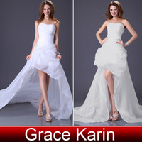 Hot Sales Elegant Long Beach Wedding Gown Asymmetric Bridal ...