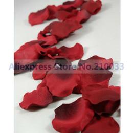 Wholesale 12 Packs Wedding Decoration Supplies Claret Red Rose Petals Table Decoration