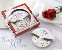 Wholesale 50pcs quot A Slice of Love quot Stainless Steel Pizza Cutter in Miniature Pizza Box For Wedding Favors