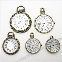 Mix Vintage Beautiful Charms Watch Pendant Antique bronze Alloy Bracelet Necklace DIY Metal Jewelry 50pcs lot