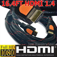 Wholesale New Premium Ver Gold FT HDMI Cable For p PS3 HDTV Support D M