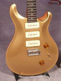 custom 22 goldtop Guitar 22 frets 3 P90 pickups Single Vibrato Arm Wammy Bar Chrome Hardware electric guitars