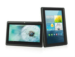 Wholesale 7 inch Q88 Dual Camera Android Multi touch Tablet PC Allwinner A33 GHz SKYPE WiFi Webcam MID