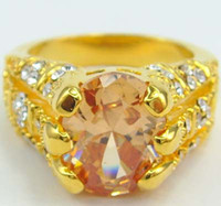 Wholesale womens ring ct topaz gemstone ring diopside rings solid k yellow gold