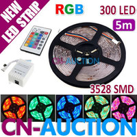 Wholesale 5M Waterproof RGB SMD LED Strip Decoration Light Lamp DC12V Remote Control CN LS31