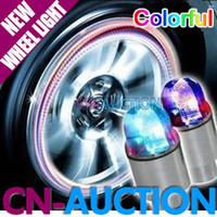 Wholesale Bike Bicycle Motorcycle DRL Car LED Wheel Light Flashlight Tyre Tire Valve Lamp CN LCL55