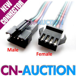 Wholesale 4 pin LED Connector Cable for RGB LED Strip Male Female Plug with Wire Pair CN LWC42