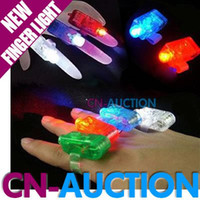 Wholesale 4 Color LED Finger Light LED Finger Lamp Toy Lamp Christmas Gift Laser Finger CN LFL9