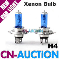 Wholesale Car Light V H4 Xenon Lamp Headlight Bulb W White k Auto Lighting pair CN LCL108