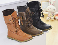 Wholesale New Women s Fashion High Quality PU Leather Lace Up Ankle Boots Shoes Rubber Sole Retail