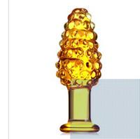 Wholesale Best selling Crystal penis glass masturbation sex toys female apparatus Addict stick