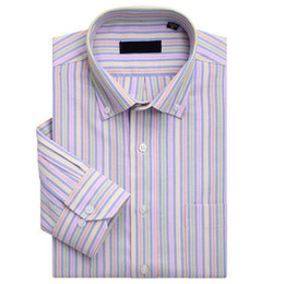 Wholesale Hottest Mens ShirtsXXXL IN STOCK Men s Stripes Long Sleeve Shirt Casual Dress Business NJF11