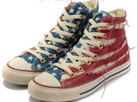 Wholesale flag style men women Canvas shoes top quality