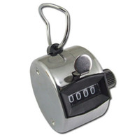 Cheap Chrome Hand Tally Counter 4 Digit Number Clicker Golf