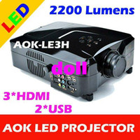 Wholesale 2200 Lumens p i Home theater LED Projector Lamp Life Hours HDMI USB AV VGA YPbPr