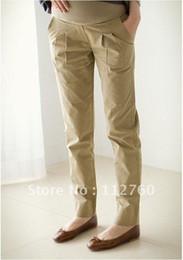 Carreira, casual calças da maternidade de 2012 de moda grávida desgaste das mulheres calças calças casuais Preto&Caqui S
