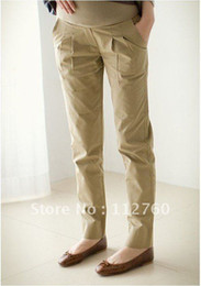 Career casual maternity pants 2012 fashion pregnant wear womens pants casual trousers Black&Khaki S