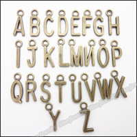 metal letters - Mixing Charms Letter Pendant Antique bronze Alloy Fit Bracelet Necklace DIY Metal Jewelry