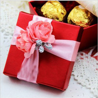Paper other Red New Style Beautiful Wedding Favours Candy Box Wedding Favor Boxes Gift Candy Box 30Pcs Lot FFF 38