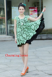Wholesale charminglover The new summer V neck loose Chouzhe lace chiffon sleeveless vest dress for pregnant