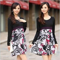Wholesale 2012 New women long sleeve dresses Maternity dress Maternity clothing Maternity long sleeve dress