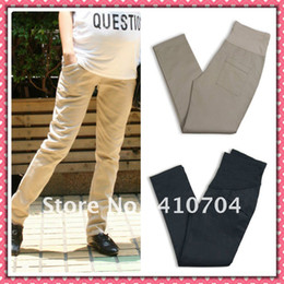 Wholesale fashion maternity long pants cotton trousers Elastic waistline m l xl top quality for Pregnant women