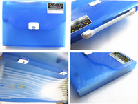 Wholesale Plastic Paper Document File Storage Bag Folder with Compartment office Stationery filing supply