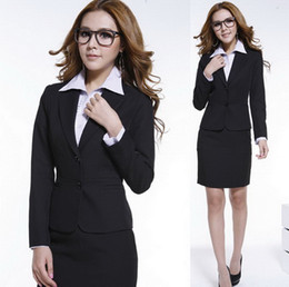 Wholesale business suit for women Black Long sleeve Two cutton Fashion Suits