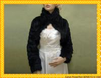 achat en gros de robes fausse fourrure-2015 Black faux fourrure enveloppe nuptiale Bolero Stole Evening Stoles hiver mariage robe de soirée de bal