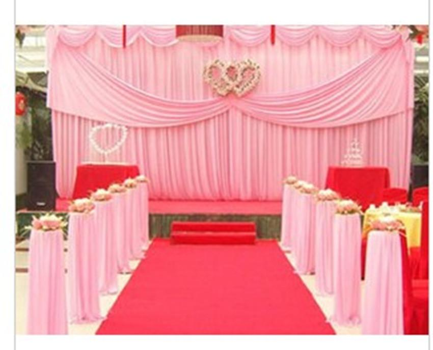 3m 6m wedding backdrop curtainwedding decorations for Background curtain decoration