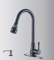 Centerset america kitchen - oil rubbered bronze pull out kitchen faucet popular in America