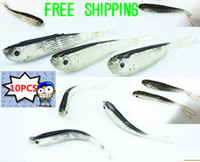 Wholesale 10 mm g Soft Tiddler Bait Fluke Fish Fishing Lures Saltwater Lure Tackle
