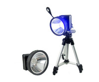 Wholesale Super bright w blue light fishing lamp head lamp and rechargeable night fishing lamp