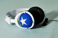 Wholesale 200pcs headphone dard blue Star Big Star Headphone with retail box good quality
