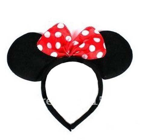 Lovely Minnie Mouse Costume Dress-Up Ears Headband Red