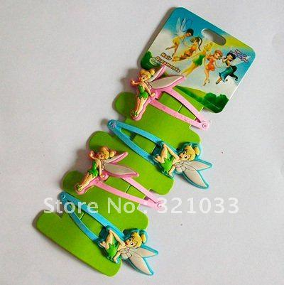 10 Packet 40 Pcs Tinkerbell Fairy Hair Accessories Ornaments Clips PINS