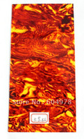 Wholesale Sunset Glow Celluloid Guitar Head Veneer Shell Sheet