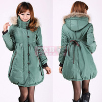 Wholesale fee shipppping women s coat plus size thickening cute shirt maternity clothing down coat clothi