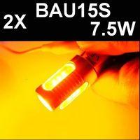 Yellow ac amber - BAU15S W Amber yellow Super Bright Car LED Auto Light Bulb Lamp DC AC V V V V Turn Signal