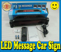 12V led moving message - LED Message Digital Moving Scrolling Car Sign Light Display With Remote Control V red by dhl free