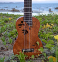 Wholesale Yadars Ukulele Soprano Ukulele with Two Band Pickup Carve Flowers Sound Hole