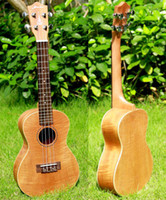 Wholesale Hanknn Ukulele All Flamed Mahogany Body with Aquila String Soprano Concert